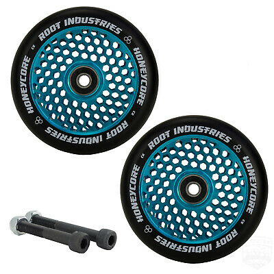 Root Honeycore 110mm Blue Scooter Wheels With Bearings + Free Axles