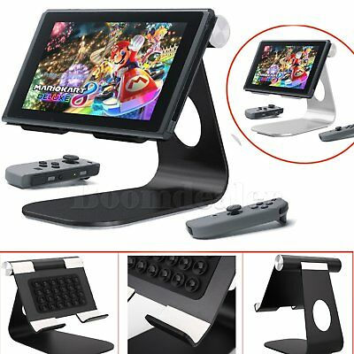 NEW Adjustable Metal Aluminum Play Stand Dock Holder For Nintendo Switch NS #HAU