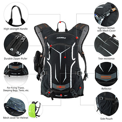 Lixada 18L Water-resistant Breathable Cycling Bicycle Bike Shoulder Backpack Ult