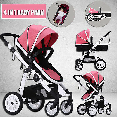 Baby Stroller Foldable Pushchair Buggy Toddler Carriage Reversible Pram Jogger