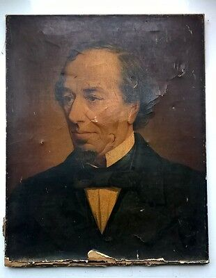 Benjamin Disraeli Antique Oleographic Repro laid on canvas Earl of Beaconsfield
