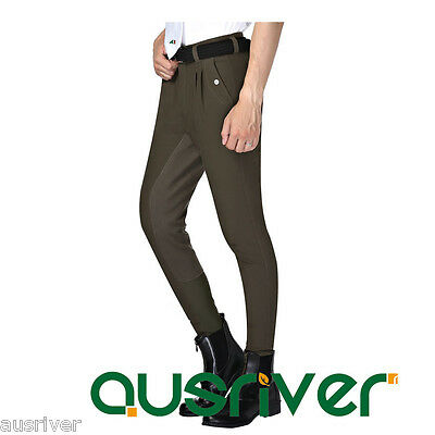 Easy Pullon Jodhpurs Breeches Horse Riding Clothing Mens Pants Elastic Fullseat