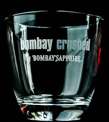 """Bombay Sapphire Gin, Gin Glas, Tumbler Salute, """"Bombay Crushed"""" 2cl/4cl"""