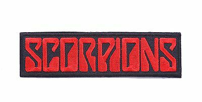 Scorpions iron on sew on embroidered applique  music patches badges patch badge