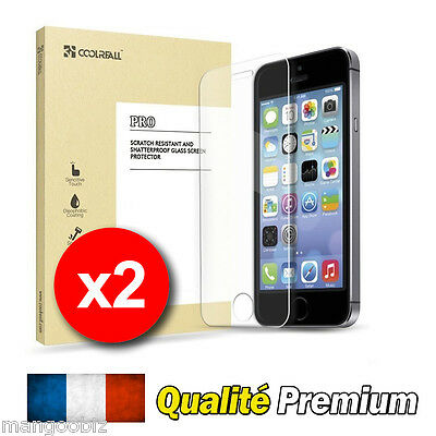 LOT ★ VITRE PROTECTION FILM PROTECTEUR ECRAN VERRE TREMPE ★ iPhone 5/5S/5C/SE