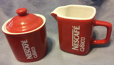 NEW 3 pc Sugar and Creamer Set Nescafe by Nestle Coffee Rare Great Gift!