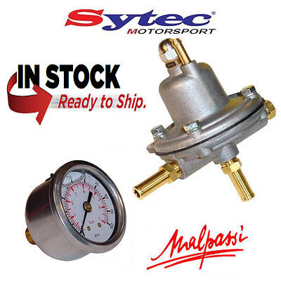 Malpassi / FSE Sytec AIR004 Adjustable Fuel Pressure Regulator 1-5 bar & Gauge