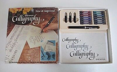 Sheaffer Calligraphy Set - Fountain Pen, Four Nibs, Cartridges, Booklet - 1980s