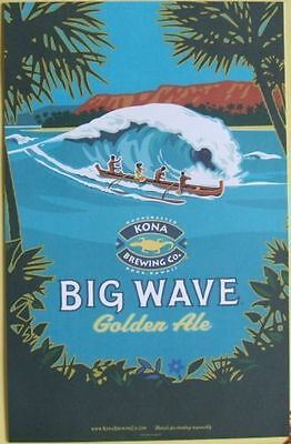 Kona Brewing Co Big Wave Golden Ale 11 x 17 Poster Hawaiian Beer Art