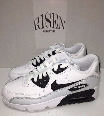 Nike Air Max 90 LTR GS Running Shoes White Black 833412-104 Youth Size 5Y-7Y
