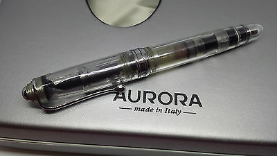 Aurora 88 Demonstrator 888C Clear Fountain Pen pencil 18K solid gold limited ed