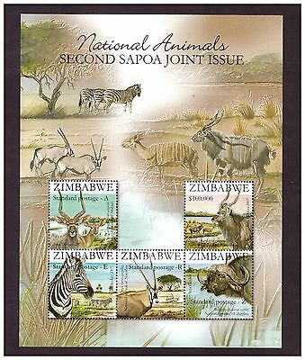 Zimbabwe 2007 Sapoa Animals  Mini Sheet Ms Sg1249