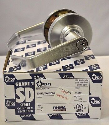 "PDQ Commercial Lockset SD-115 PHL STORE 2 3/4"" BACKSET ASA STRIKE SCHLAGE 26D"