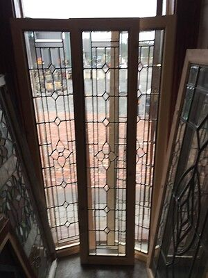 Sg 1275 3 Available Price Separate Antique Beveled Glass Transom 16 X 66