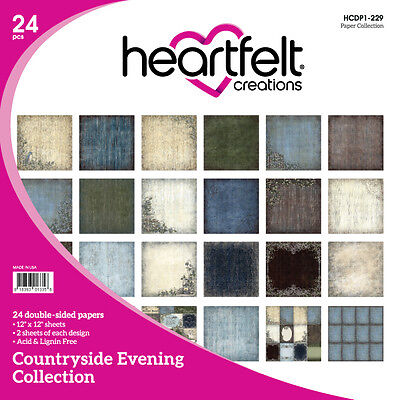 Heartfelt Creations Countryside Evening 12x12 Cardstock Paper Pad