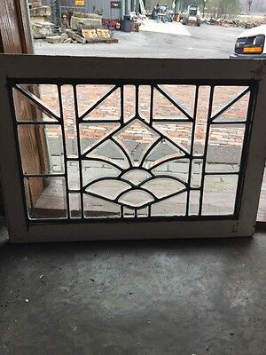 St 1284 Antique All Beveled Glass Window 28.5 X 19.7 5H