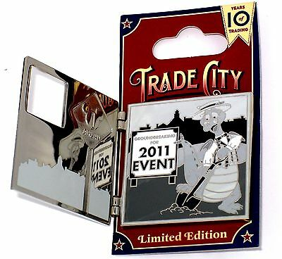 LE Disney Pin✿Figment Trade City USA Newspaper Event Scoop Sanderson Honor Opens