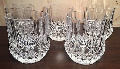 CRISTAL D'ARQUES crystal LONGCHAMP DOUBLE OLD FASHIONED glasses Set Of 5