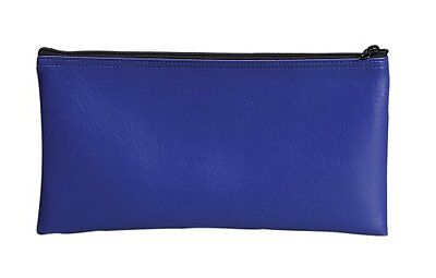 Bank Security Deposit Utility Zipper Coin Cash Wallet Pouch Safe Money Bag  Blue