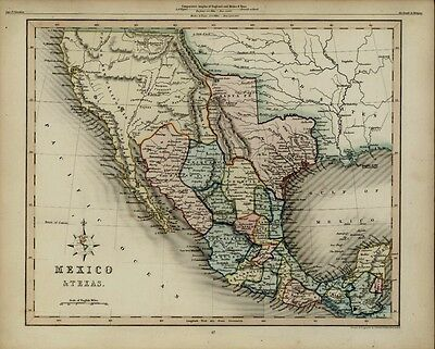Texas as Independent Republic New California rare 1848 antique Archer U.S. map