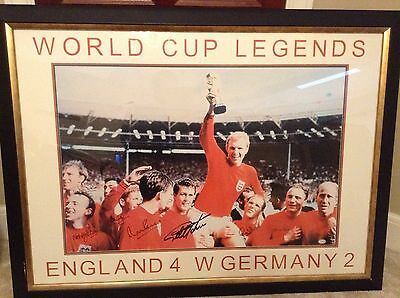 1966 Pre Framed Hand Signed World Cup Team Picture