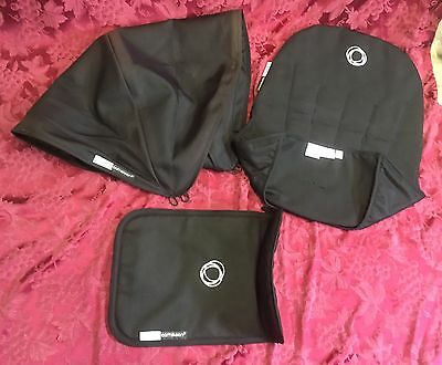 Bugaboo Cameleon, Seat Liner/Insert, Canopy And Seat Cover. Black Canvas