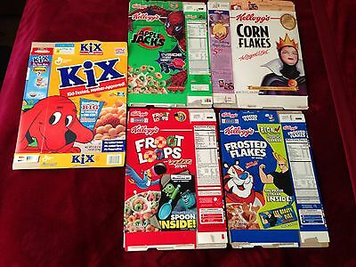 BIG SIZED CEREAL BOX FLATS Lot Of 5 TV/Movie Character related