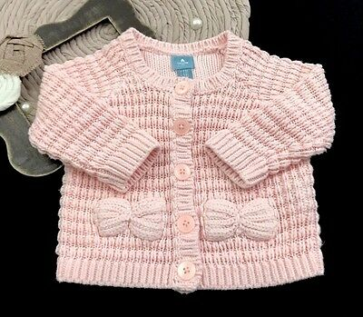 Infant Baby Girl Size 3-6 Months Gap Button Up Light Weight Spring Sweater Pink