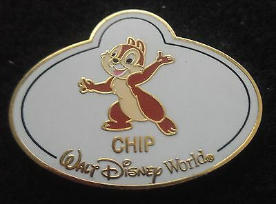 2008 Chip Name Tag Le Disney Pin From Walt Disney World Mystery Tin Collection
