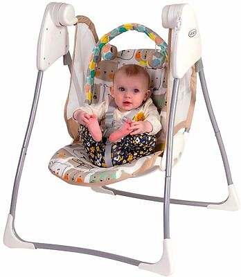 New Baby Cradle Infant Safety Swing Rocker Chair Seat Glider Bouncer Portable