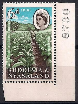 1963 RHODESIA & NYASALAND 6d BLUE COLOUR SHIFT POS LOWER LEFT CORNER SG44 VAR