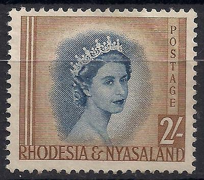 RHODESIA & NYASALAND; 1954 early QEII issue fine unused 2sh