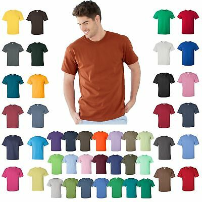 Gildan T-Shirt Tee Men's Short Sleeve Heavy Cotton Tear Away G500