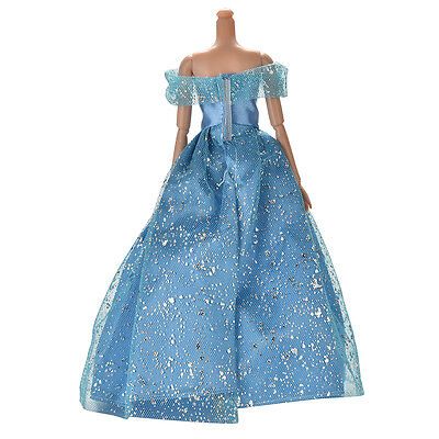 Great Beautiful Dark Blue Dress with Butterfly Decoration Doll for Barbie FBC