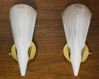Pair Of Wall Sconces By Lightolier Mid Century Modern