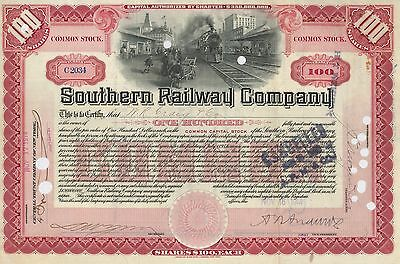 Southern Railway Company > 1914 railroad stock certificate now Norfolk Southern
