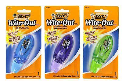 Bic WOMTP11-WHI Wite-Out Correction Film - 3 Pack 50753