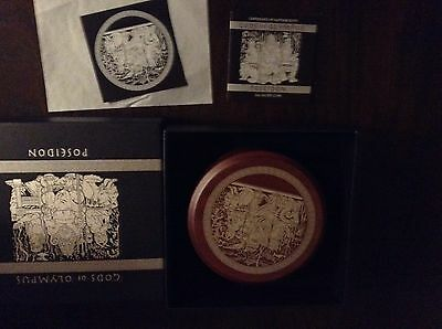 2014 POSEIDON Gods of Olympus 2 OZ  Coin Perth Tuvalu Silver Coin VERY RARE COIN