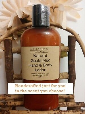 4.5oz SILKY GOATS MILK HAND & BODY LOTION~MOISTURIZING~SCENTED OR UNSCENTED