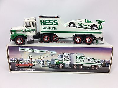 1988 HESS TOY TRUCK and RACER Original Box
