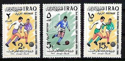 IRAQ IRAK SPORT Football Cup Baghdad 1966 SC 403 SG 717 SET MNH