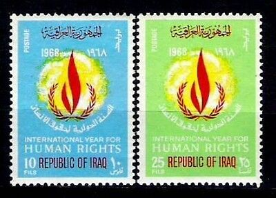 IRAQ IRAK HUMAN RIGHTS UNITED NATIONS YEAR 1968 SC 483 SG 814 Full Set  MNH