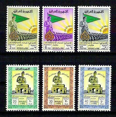 IRAQ IRAK IRAQI STAMPS Qasim Army Day 1961 SC 267 -72 SG 546 -51 Set MNH