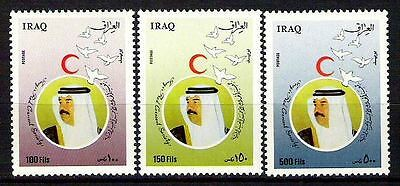 IRAQ 1989 Saddam Hussein Iraqi Red Crescent Full Set Scott No. 1444 -  1446 MNH