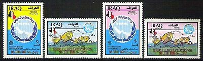 IRAQ 1988 Regional Marine Enviroment Day Full Set Scott No. 1329 - 1332 MNH RARE