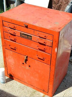 VINTAGE SNAP ON Tool box chest K-77 1940s WWII No Reserve!
