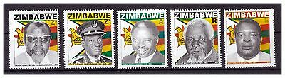 ZIMBABWE 2009 COMMEMORATIONS / HEROES SINGLE SET SG 1284 to 1288