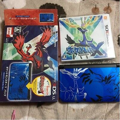 Nintendo 3DS LL XL Pokemon Y Pack Limited Xerneas Yveltal Blue with software F/S