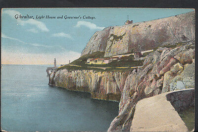Gibraltar Postcard - Light House and Governor's Cottage  RS2477
