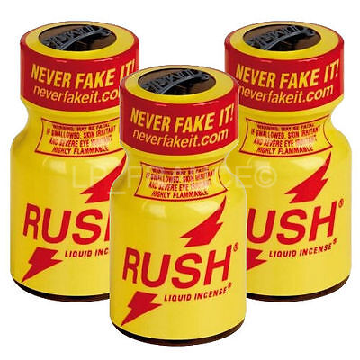 Poppers Rush Original 10 ml Lot de 3 Flacons Neuf !!